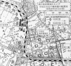 零戦用掩体壕の配置図